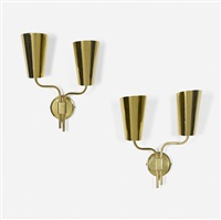 wall sconces, pair by paavo tynell