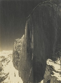 monolith: the face of half dome, yosemite valley by ansel adams