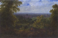 kingston on thames from richmond park by frederick john railton