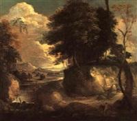 waldlandschaft mit bach by philippe van dapels
