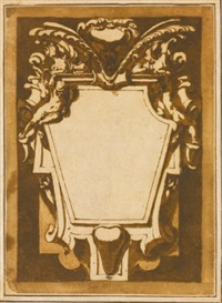 design for a cartouche by andrea boscoli