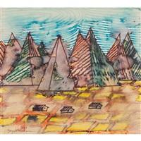 mountainous country by yayoi kusama
