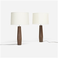 table lamps (pair) by paul evans and phillip lloyd powell