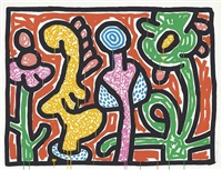 flowers suite: one plate by keith haring
