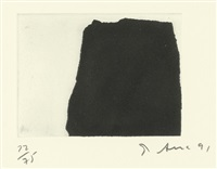 2 sheets: 1 and 2 (2 works from videy afangar series) by richard serra
