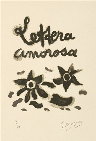couverture pour la suite lettera amorosa from lettera amorosa by georges braque