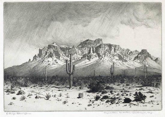 superstition mountain, apache trail, arizona by george elbert burr