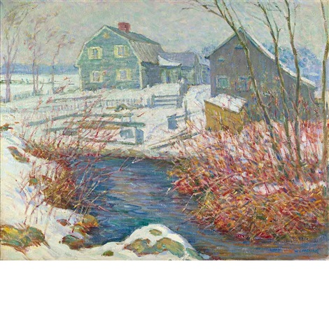 a stream by the farm by william chadwick