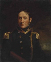 portrait of captain philip beaver (1766-1813), half-length, in naval uniform by john opie
