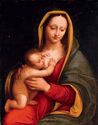 the madonna and child by andrea solario