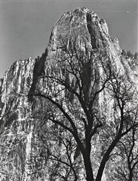 sentiniel rock, yosemite, 1949 by ansel adams