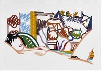 nude with cezanne (from portfolio 90) by tom wesselmann