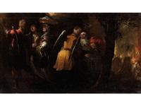 lot und seine beiden töchter fliehen aus der brennenden stadt sodom by gioacchino assereto