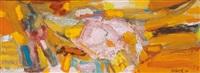 composition jaune et orange by chafic abboud