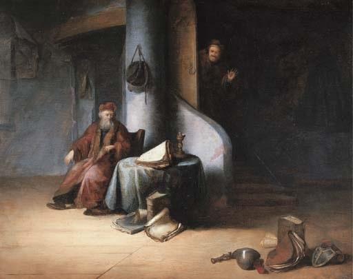a scholar in his study by jacob van spreeuwen