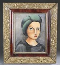 untitled portrait by moïse kisling