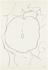 melon leaf (feuille de melon) (from suite of plant lithographs) by ellsworth kelly