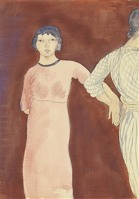 fille en robe rouge by mina loy