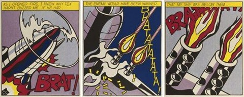 as i opened fire (triptych) by roy lichtenstein