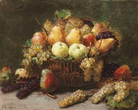 a still life with fruit by alexis kreyder