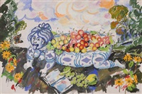 still life with fruits by vladimir i. nekrasov