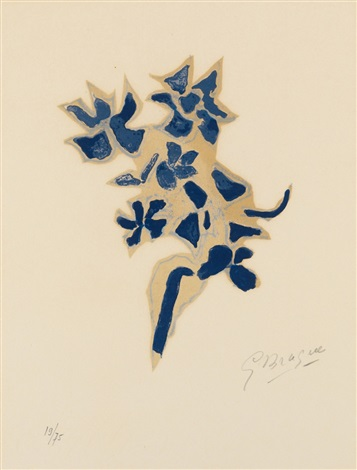 giroflée bleue from lettera amorosa by georges braque