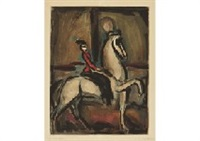 amazone from circue by georges rouault