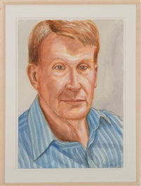 portrait of ashton hawkins by philip pearlstein