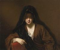 la femme voilée by jean-baptiste santerre