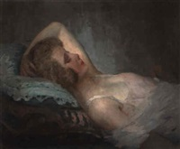 femme couchée by carl nys
