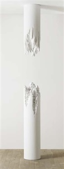 building cut - column #1 (in 2 parts) by daniel arsham
