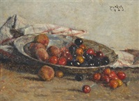 kirschen und pfirsiche (cherries and peaches) by josef köpf