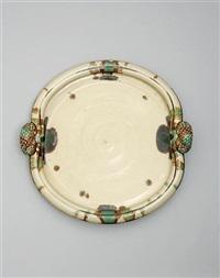 a monumental sansai glaze platter by takeshi yasuda