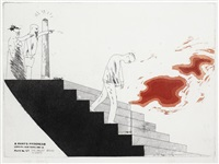 the wallet begins to empty (from a rake's progress) by david hockney