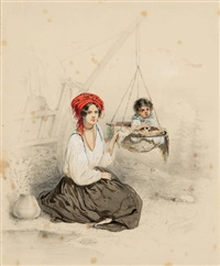 bohémienne finoise by vasili fedorovich (george wilhelm) timm
