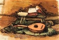 stilleben mit mandoline by joachim heuer