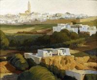 vue de meknes, maroc by marcel couderc