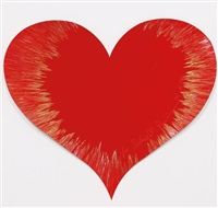 untitled (heart spin painting) by damien hirst
