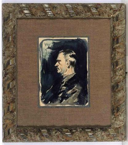 portrait of the artist arthur bowen davies by george benjamin luks