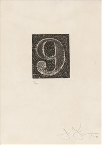 9 (universal limited art edition 165) by jasper johns