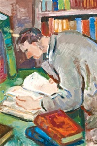 olvasó férfi by sándor bortnyik