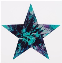 untitled (star spin painting) by damien hirst
