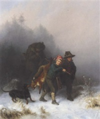 returning from the hunt by eugen hess
