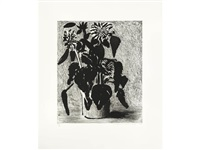 sunflowers ii by david hockney
