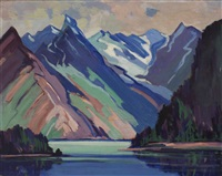 mountain landscape by mildred valley thornton