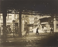 el, second and third avenues line by berenice abbott