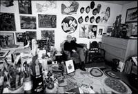 corneille dans son atelier, rue du dahomé, paris by roberto battistini