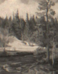 winter stream by karl ouren