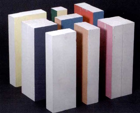 model for colored box by julian opie