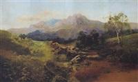 schottische landschaft mit fischern by c. austin